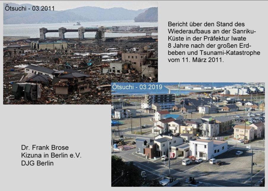 Bericht über den Stand des Wiederaufbaus an der Sanriku-Küste