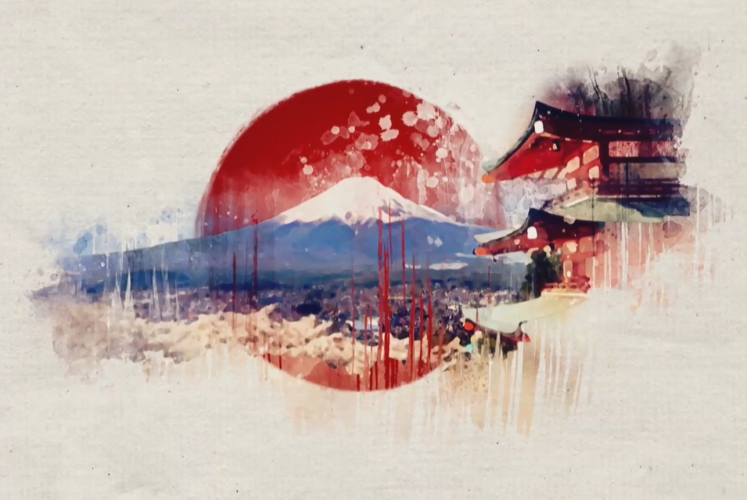 Bild Vielfarbiges Japan